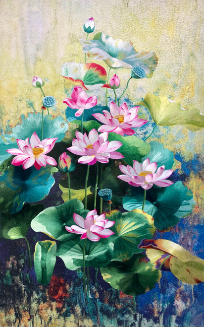 King Silk Art  Flower  Lotus Pond 76410