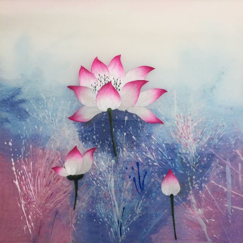 King Silk Art  Flower  Lotus 76421