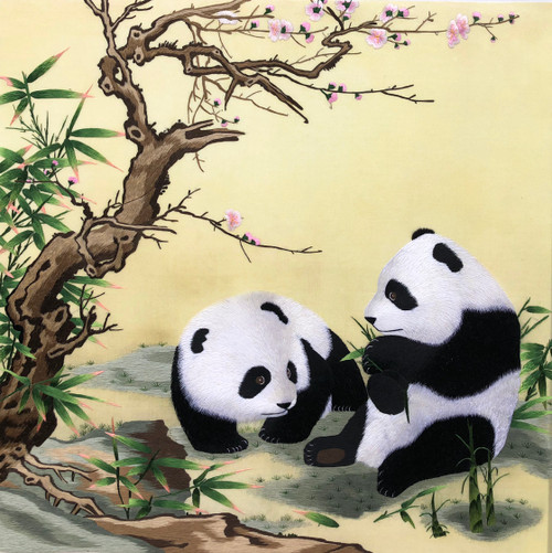 King Silk Art  Two Pandas 74113