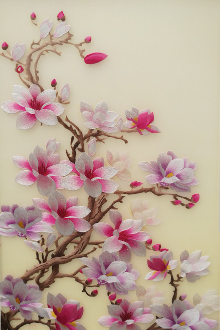 King Silk Art Flower Magnolia Leaves 76095