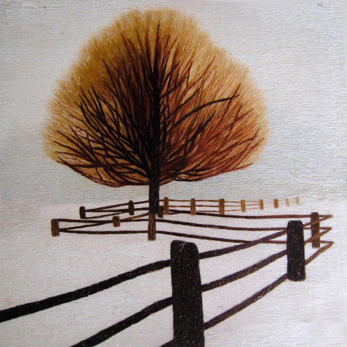 King Silk Art  Landscape Fence and Tree 87303