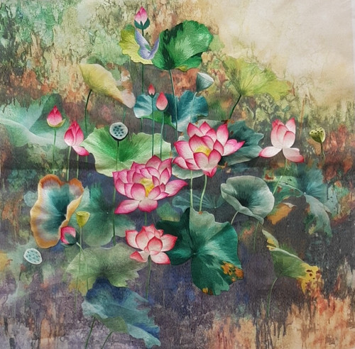 King Silk Art  Flower  Lotus Pond 76412