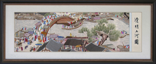 King Silk Art Along the River During the Qing Ming Festival  87002