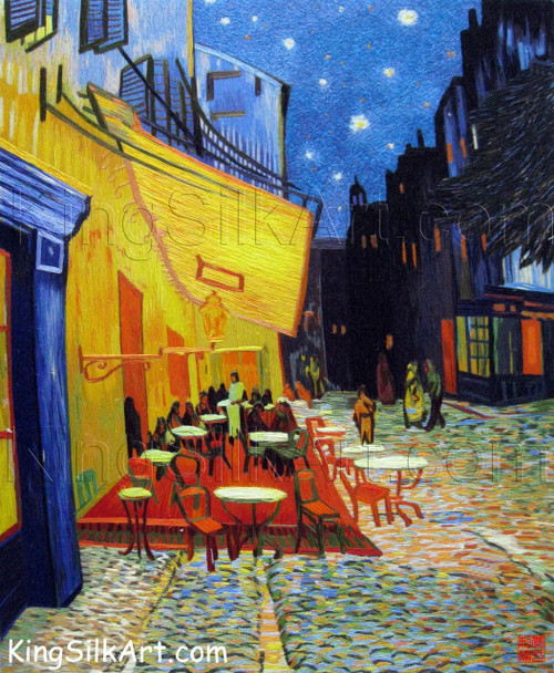 King Silk Art  Landscape Café Terrace-Van Gogh 87103