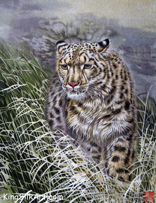 King Silk Art Wildlife  African Animal  Leopard in the Rushes 74021