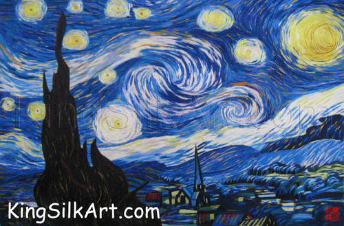 King Silk Art  Landscape Starry Night-Van Gogh 87104