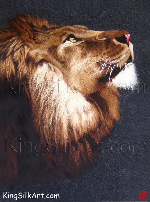 King Silk Art Wildlife African Animal King of Judah 74008