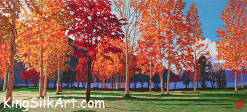 King Silk Art Landscape Fall Maples 77042