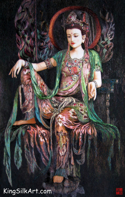 King Silk Art  People Lady Lounging on her Throne 75095
