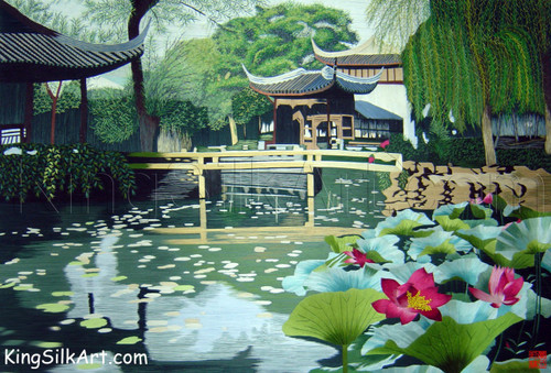 King Silk Art Landscape  Water Lily Garden  87037