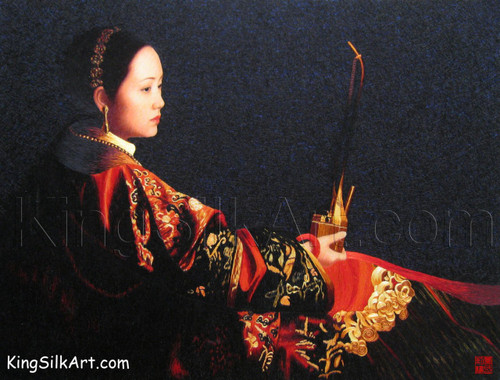 King Silk Art  People Woman with Pipe-Yifei 75063