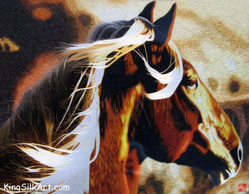 King Silk Art  Wildlife Animal Brown Horse with a Blonde Mane 74028