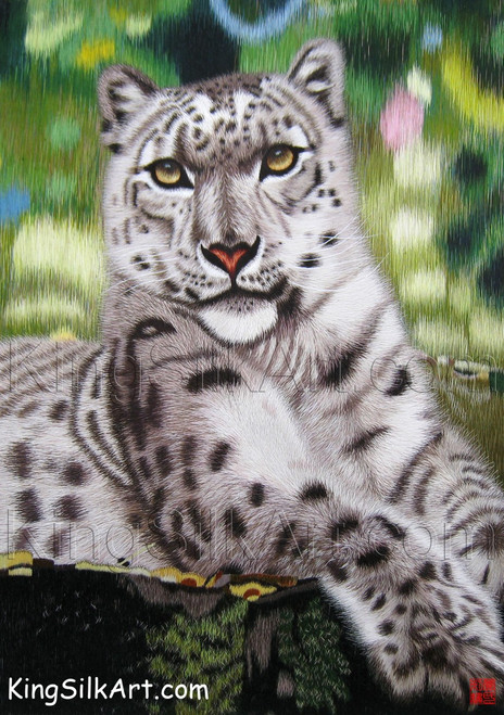 King Silk Art  Wildlife  African Animal Portrait of a Snow Leopard 74027