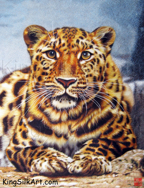 King Silk Art  Wildlife African Animal Startled Tiger 74020