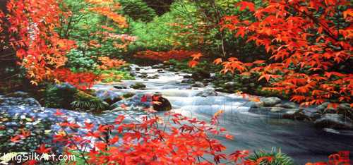 King Silk Art Landscape River in Autumn 77073