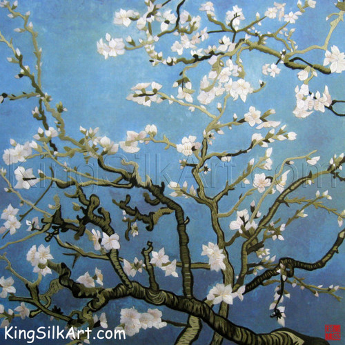 King Silk Art  Flower Floral Almond Branches in Bloom-Van Gogh 76071