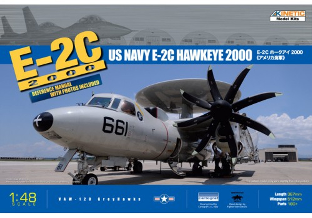 Kinetic K48016 1/48 US Navy E-2C Hawkeye 2000