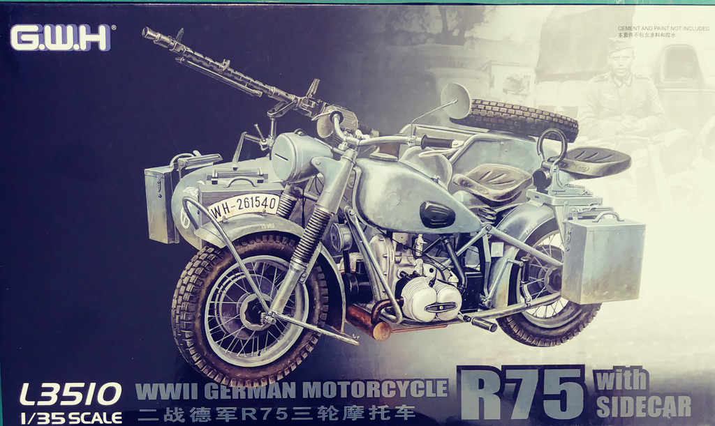 Great Wall L3510  1/35 BMW R75 with Sidecar