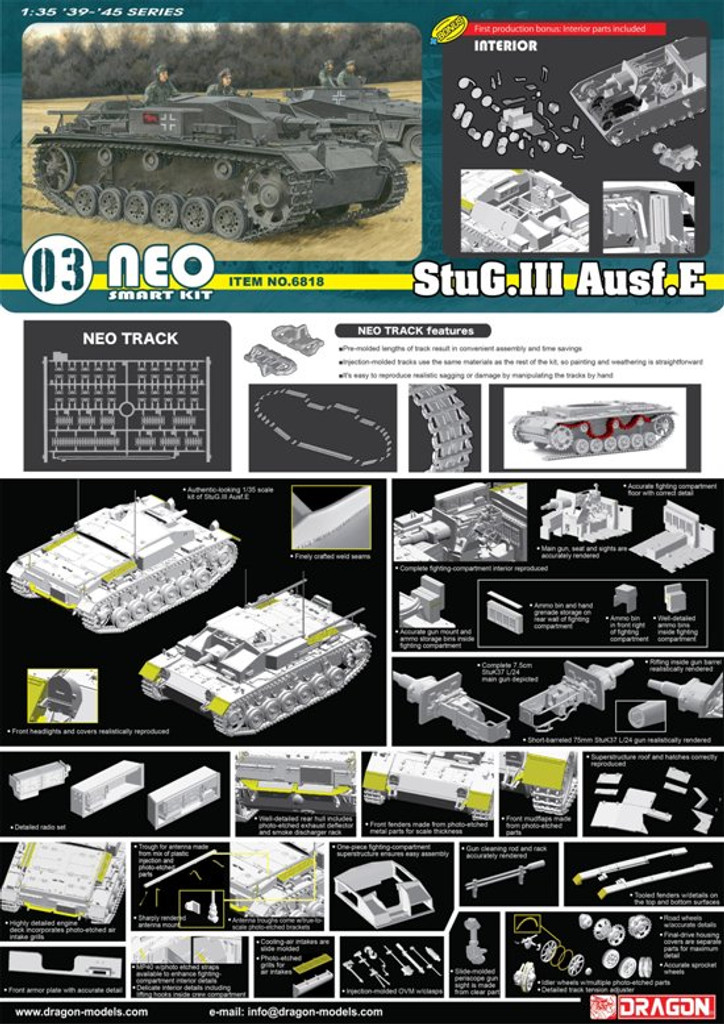 Dragon  6818 1/35  StuG.III Ausf.E (Neo Smart Kit)