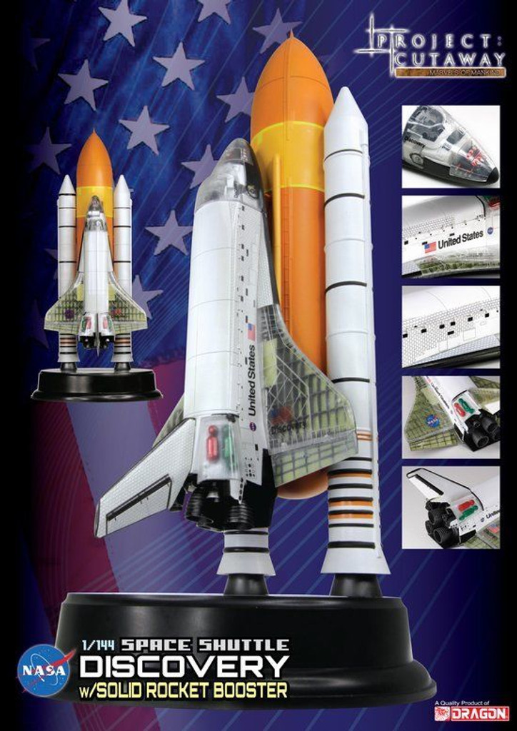 "Dragon 47403	1/144 Space Shuttle ""Discovery"" w/Solid Rocket Booster"