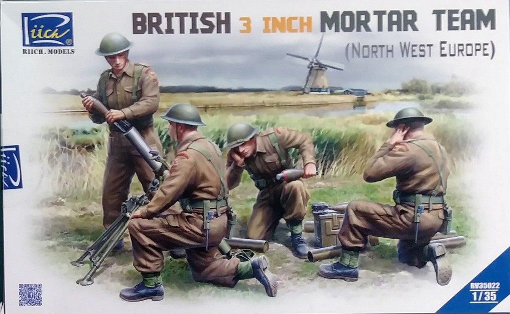 Riich RV35022 1/35 British 3 inch Mortar Team Operation Market Garden 1944