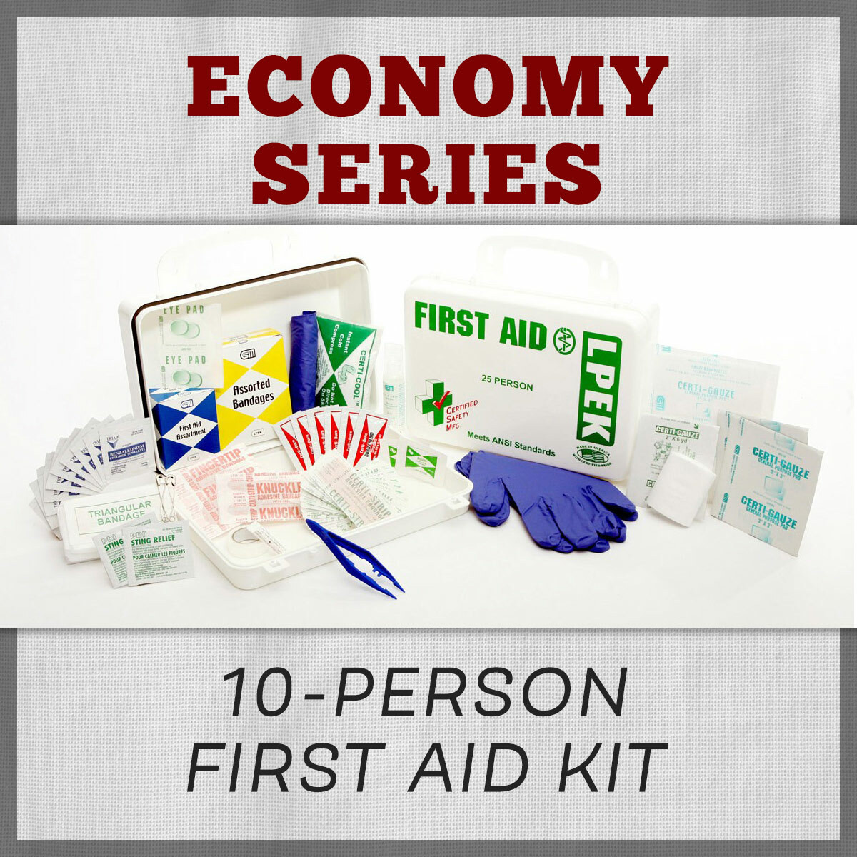 Economy Series 10-Person First Aid Kit Refill