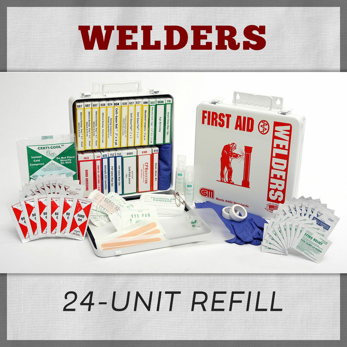 Welders 24 Unit Welders First Aid Kit Refill