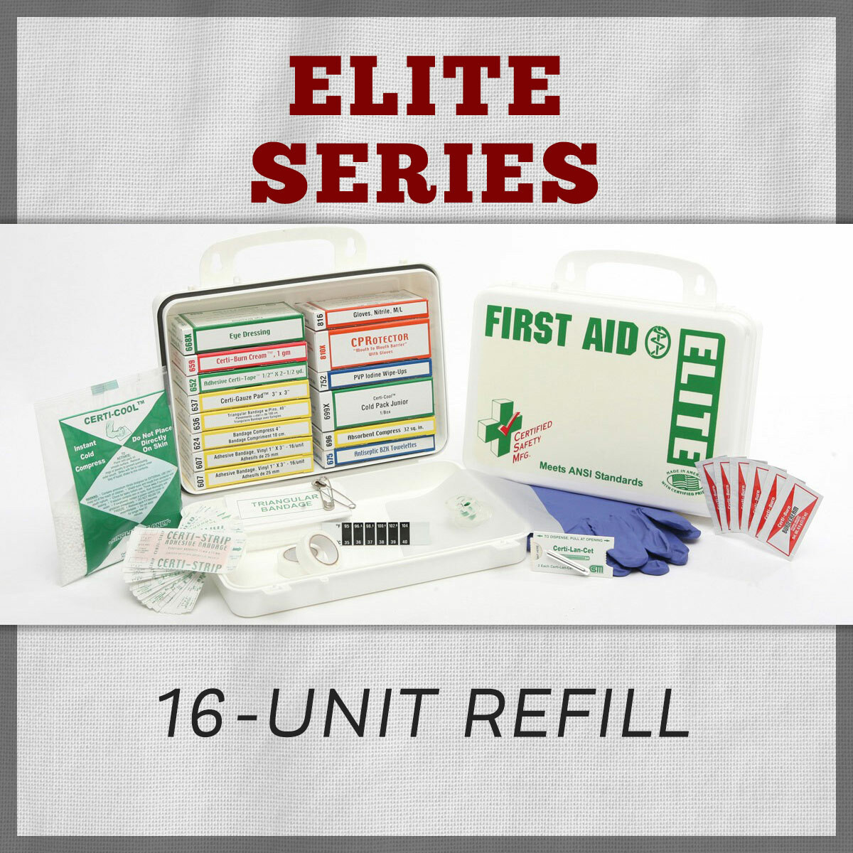 Elite Series 16-Unit First Aid Kit Refill