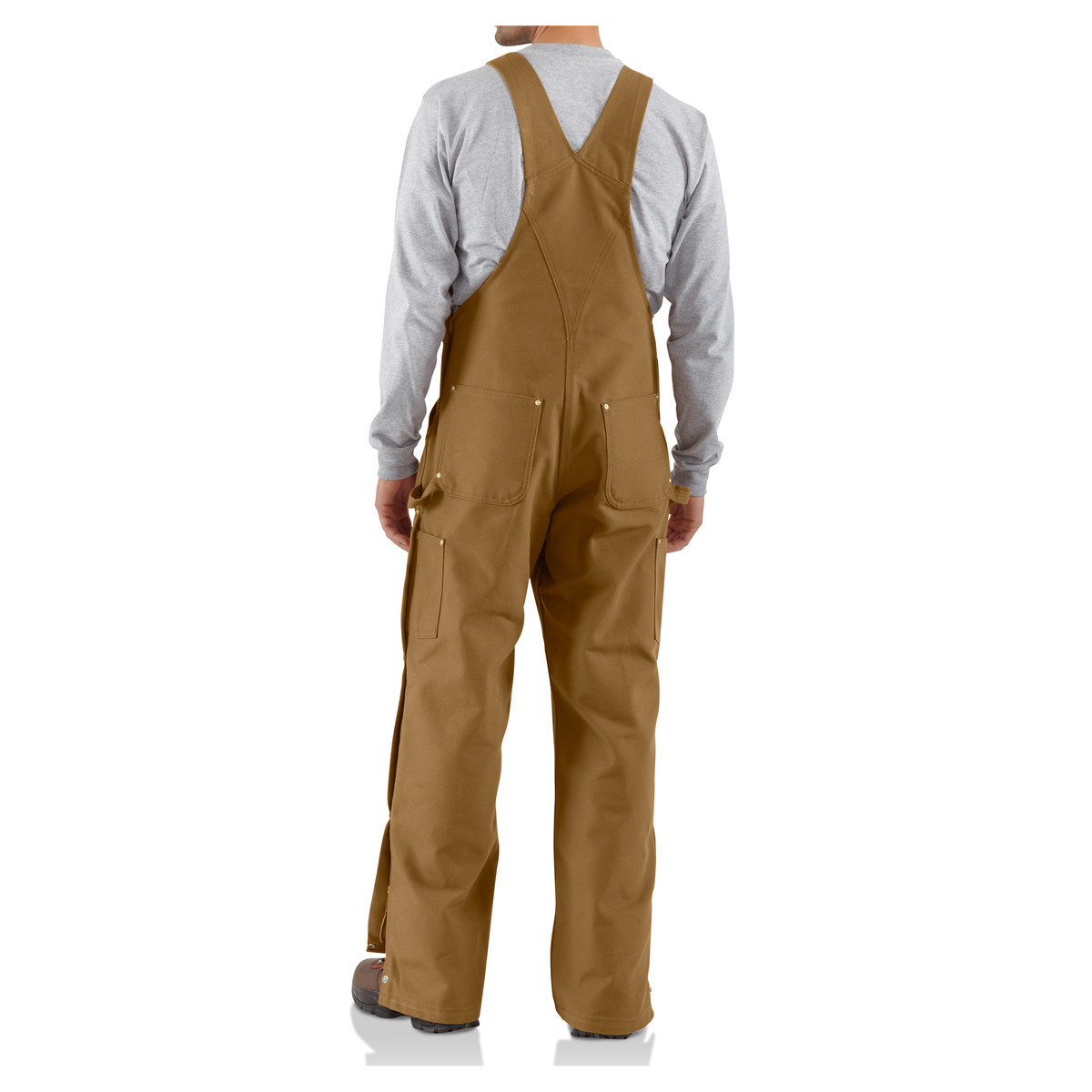 Carhartt Mens Zip To Thigh Bib Overall Unlined R37