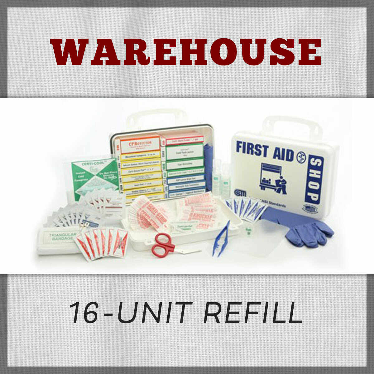 Warehouse 16 Unit First Aid Kit Refill