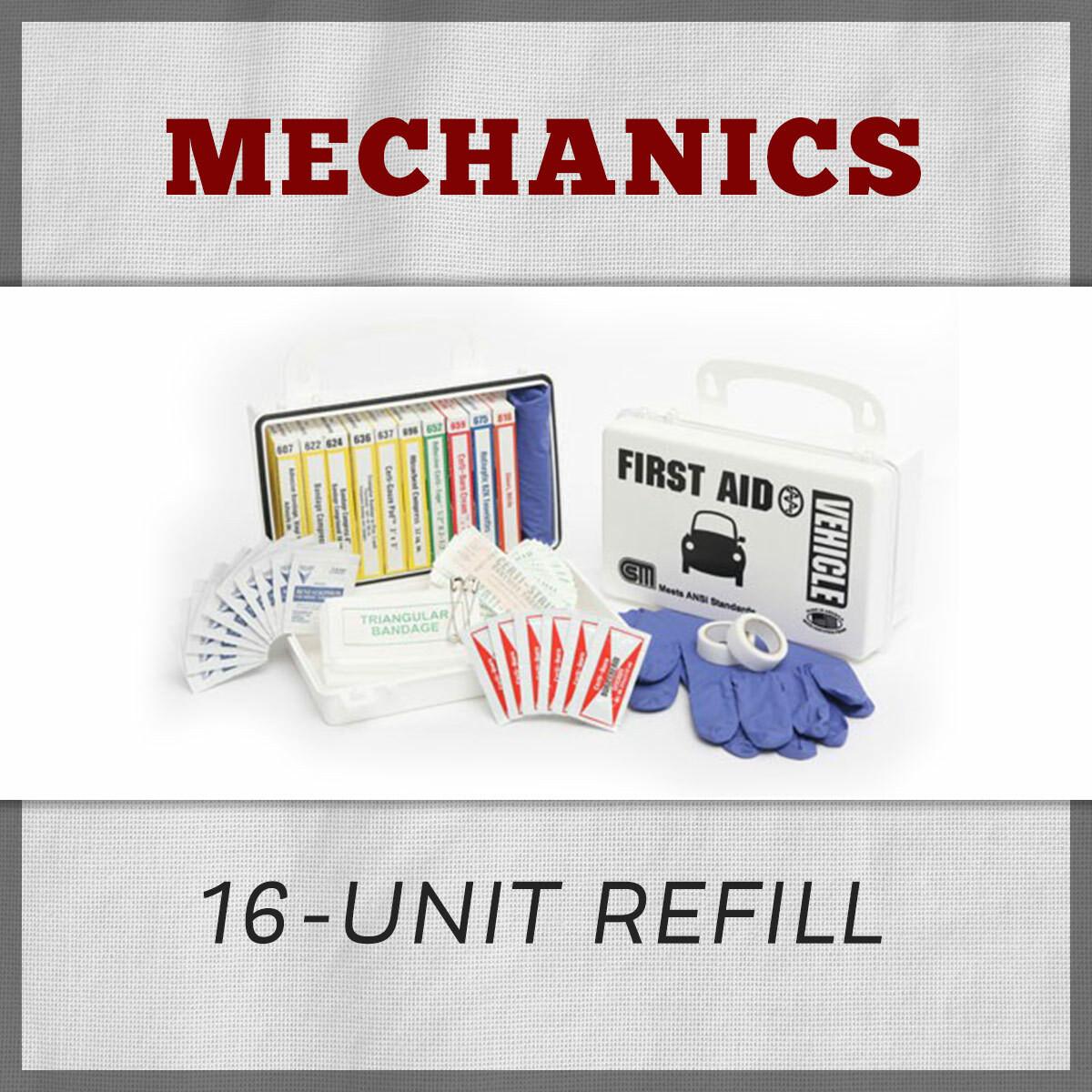 Mechanics 16-Unit First Aid Kit Refill