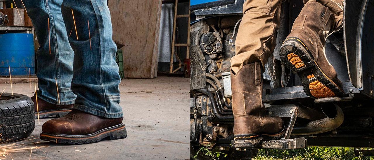 Rugged Blue Steel Toe Works Boots Only $45.95