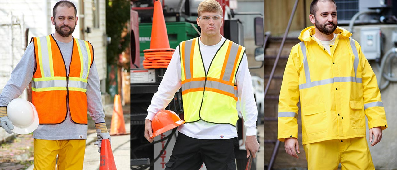 High-Vis Workwear, rainsuites, vests, shirts, and more...