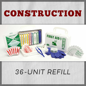 Construction Series 36-Unit First Aid Kit Refill