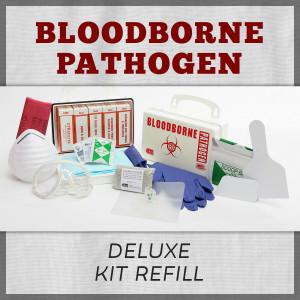 Bloodborne Pathogen Deluxe First Aid Kit Refill