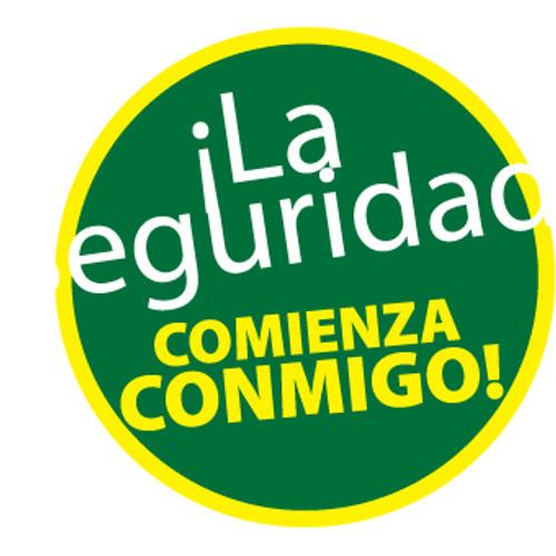 """i La Seguridad Commienza Conmido!, 2"""", Pressure Sensitive Vinyl Hard Hat Emblem, Single Sticker"""