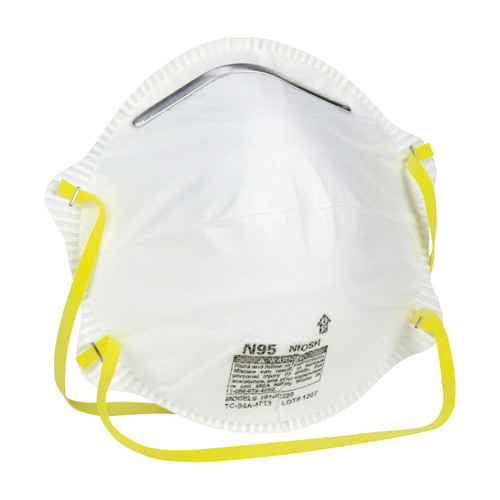 Safety Works N95 Harmful Dust Disposable Respirators - 20 Pack