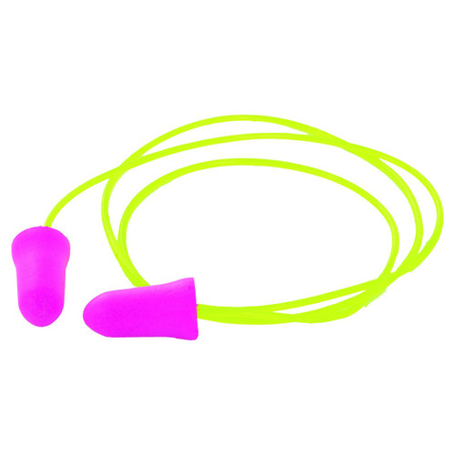 ERB Safety Disposable Corded Pink Ear Plugs - 100 Pairs - GP05