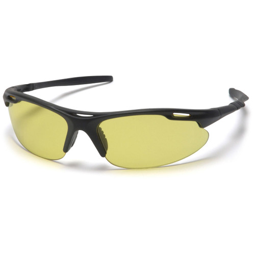 Pyramex Avante Black Frame Safety Glasses w/ Amber Lens