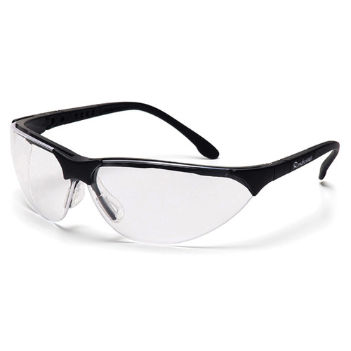 Pyramex Rendezvous Black Frame Safety Glasses w/ Clear Lens