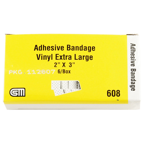 "Certi Strip Extra Large Plastic Bandages, 2"" x 3"", 6 pack"