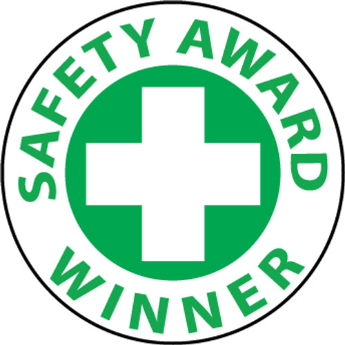 "Safety Award Winner 2"" Emblem 25 Pack, Pressure Sensitive Vinyl Hard Hat Emblem"