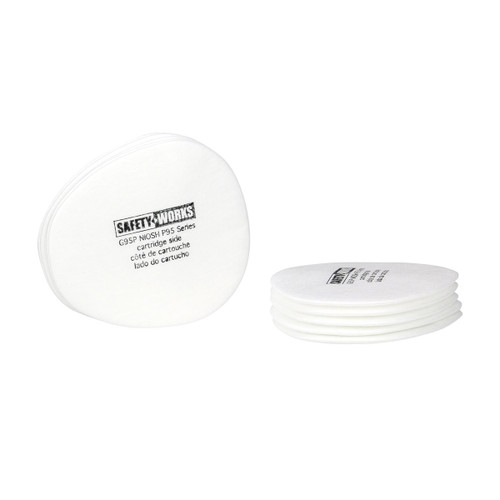 Safety Works Respirator Replacement Pre-Filters - 6 Pack
