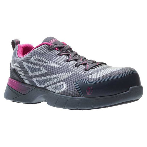 Wolverine Women's Jetstream 2 Grey/Pink CarbonMAX Safety Toe Shoes - W10802