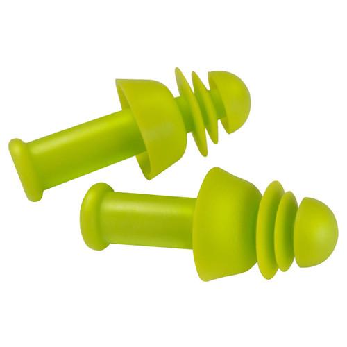 PIP Flange/ Disc Combo Reusable Cordless TPE Ear Plugs - 100 Pair