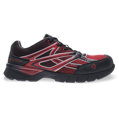 Wolverine Men's Red/Black JetStream Carbonmax Safety Toe Shoes - W10692