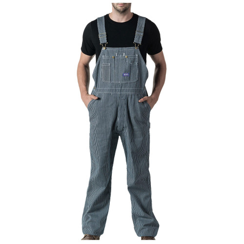 BIG SMITH Men's Bib Overalls - Hickory Stripe