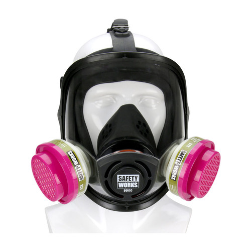 Safety Works Full Facepiece PRO Multi-Purpose Respirator