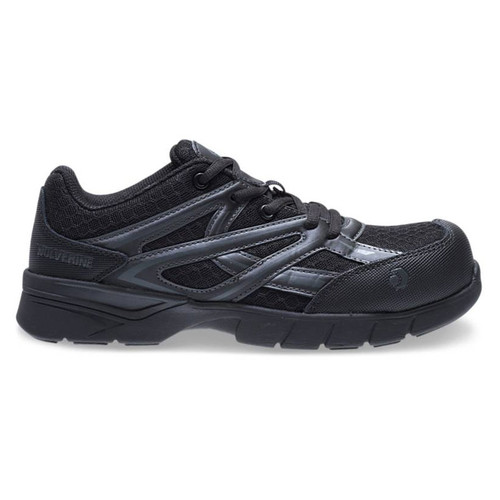 Wolverine Women's Solid Black JetStream Carbonmax Safety Toe Shoe - W10756