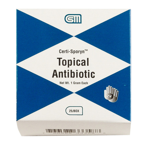 Certi Sporyn Antibiotic Cream, 1 gm., 25/box